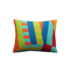 felt abstract pillow