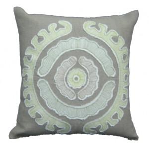 suzani applique pillow