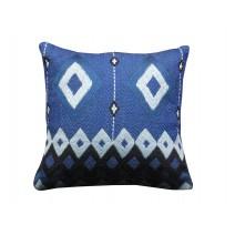 navy geo pillow