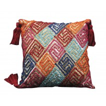 embellished cord pillow