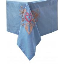 damask corner table cover