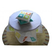 color blocks table cover