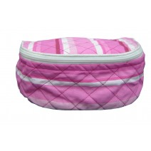 striped cosmetic bag