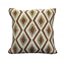 corded diamond pillow