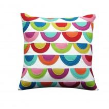 scallop felt pillow