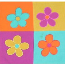 floral blocks pillow