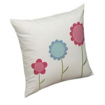 rows of flowers pillow