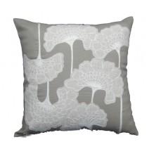 linen floral pillow