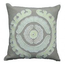 suzani applique pillow