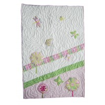 flowers and butterfly quilt