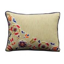 folk mural pillow