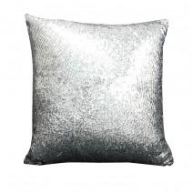 silver sequins pillow