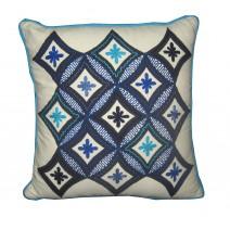 blue diamonds pillow