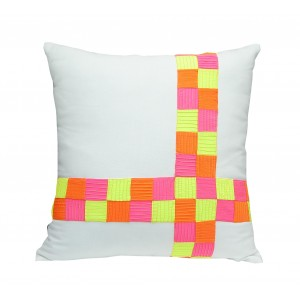 toxic check stripe pillow