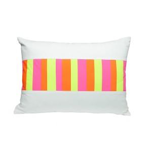 neon barcode pillow