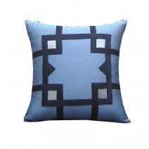 Geo  Tape Pillow - Blue