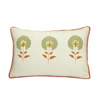 floral block pillow