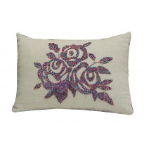 beaded rose pillow