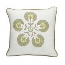 circular floral pillow