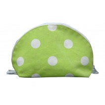 green dots cosmetic bag