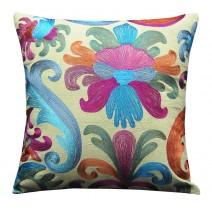 bright baroque pillow