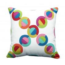 circles of felt pillow
