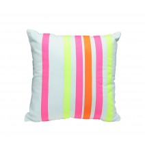 neon multi stripe  pillow