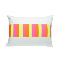 neon barcode pillow