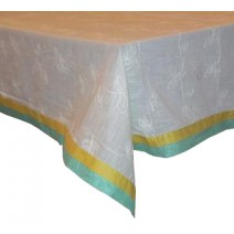 vine embroidered table cover