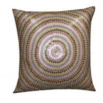 circular sequin pillow
