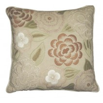 swirl floral natural pillow
