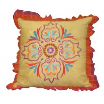bright medallion pillow
