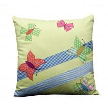 butterflies on a fence pillow