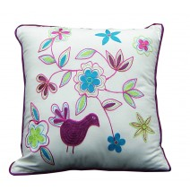 floral bird pillow