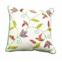 bright floral trellis pillow