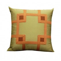 geo tape pillow-gold