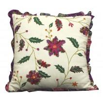 floral trellis pillow