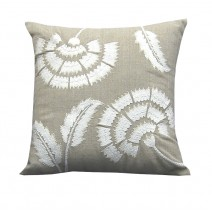 floral fan pillow