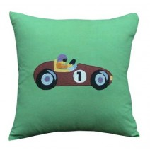 vintage race car pillow