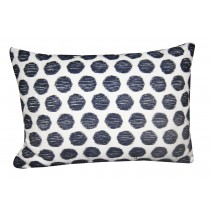 dots in blue pillow
